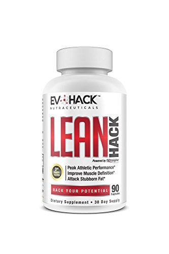 LEANHack by EvoHack Thermogenic Fat Burner Supplement - Weight Loss and Muscle Mass Support for Men and Women - Energy Booster Powered by Acetyl L-Carnitine, Nitrosigine, Lean GBB - 90 Capsules