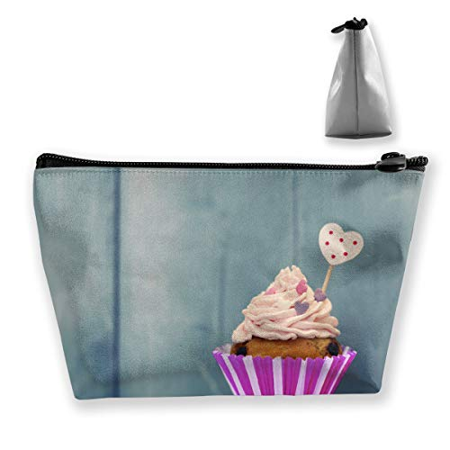 Candy Cup Cake Kitchen Pink Pen Stationery Pencil Case Cosmetic Makeup Bag Pouch ()