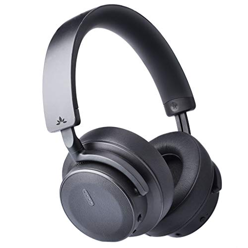 Blk Headphone Noise Canceling (Avantree Hi-Performance 37dB Bluetooth Active Noise Cancelling Headphones with Ambient Sound Amplify, aptX Low Latency Wireless Stereo ANC Over Ear Headset, Smart Sensor & Touch Control - ANC041)