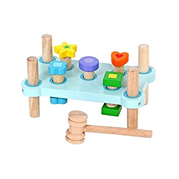Amazon Com Mentari Wooden Cobbler S Bench Toy Learn And Play