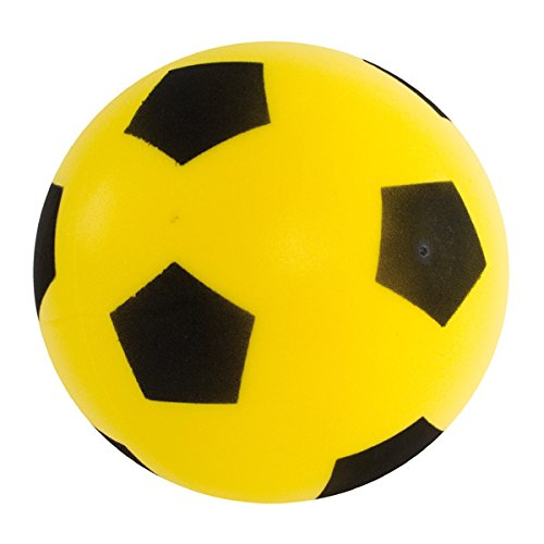 17.5cm Sponge Foam Football YELLOW Soft Outdoor Indoor Kids Fun Play Game Gift Match Light Weight Children Soccer Team Toys Classic