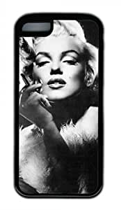 CSKFUSexy Lady Marilyn Monroe M034 iphone 6 5.5 plus iphone 6 5.5 plus Black Sides Rubber Shell Case by eeMuse