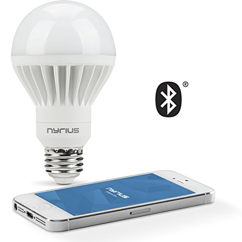 Nyrius Wireless Smart White LED Light Bulb for Smartphones & Tablets - iOS & Android App Remotely Controls On/Off, Scheduling & Dimming Functions - Bluetooth Energy Efficient Home Automation (SB09) (Light Bulbs Timer compare prices)