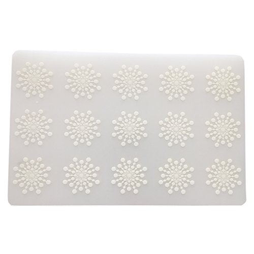 August Dream 6 Pcs Simple Wipe Clean Placemats Set of 6 Placemat for Kitchen Dinner Table Place Mats Dining Placemats Plastic Waterproof, Wipeable, Translucent (Snowflake)