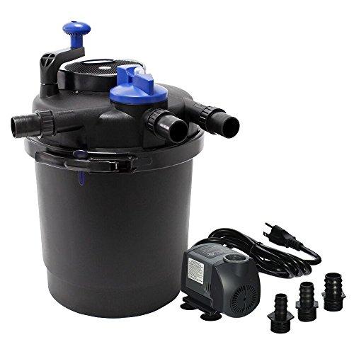 SUN Grech CPF-2500 Pond Bio Pressure Filter UVC 13-watt Up to 1600 Gallons (CPF-2500 + 720GPH Pump) - Pond Filter