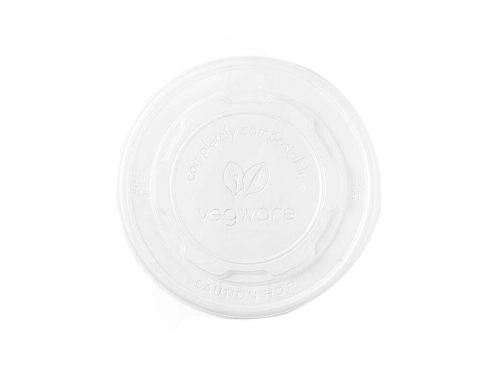 Vegware VL115D dome PLA cold lid 115 mm fits 12 oz.-32 oz. soup Pack of 500
