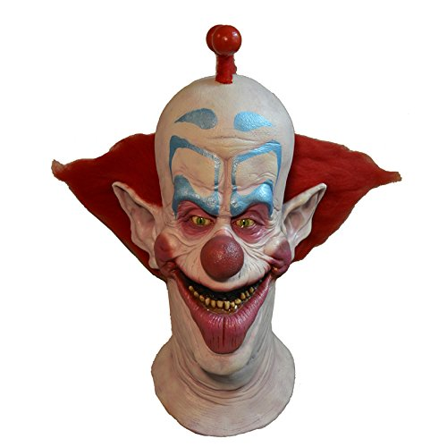 Outer Space Costumes (Trick or Treat Studios Men's Killer Klowns From Outer Space Slim Mask, Multi, One Size)