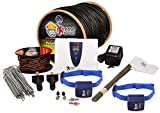 Electric Dog Fence Stubborn Dog - 2-Dogs 500' of Pro Grade Heavy Duty 14 Gauge Boundary Wire for 1/3 Acre Pet Fence and 8 Correction Levels to Accommodate Larger, More Stubborn Dogs