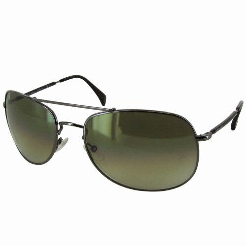 Giorgio Armani 840/S Men's Aviator Full Rim Lifestyle Sunglasses - Dark Ruthenium/Gray / Size - Armani Giorgio Aviator Sunglasses