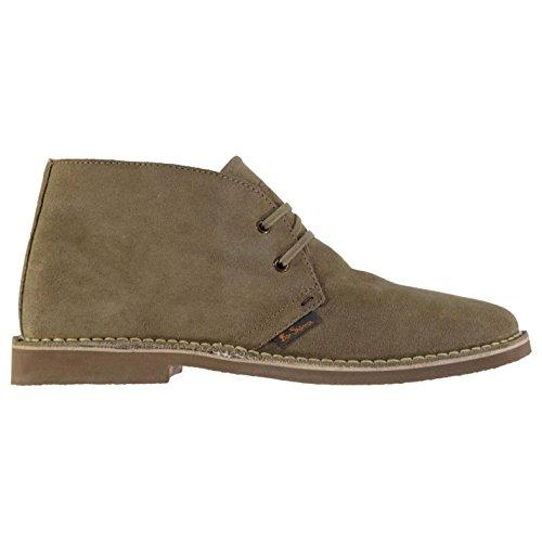 Ben Sherman Herren Hunt Wuestenstiefel Leder Desert Boots Stiefel Stiefeletten Sand