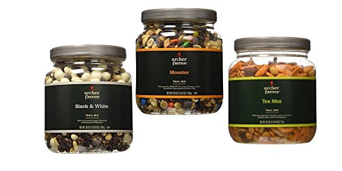 Trail Mix Variety Bundle - Monster, Tex Mex and Black and White (Trail Mix With White Chocolate compare prices)
