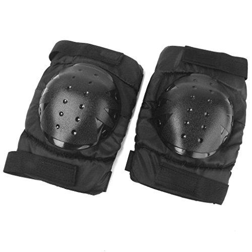 Pemm + 61paire Skateboard Genouillères gardes de protection Gear (Noir)