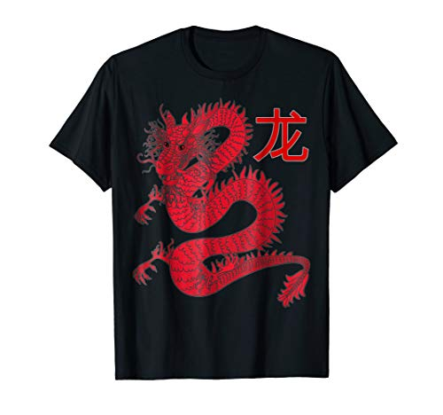 (Dragon Sheng Xiao  Chinese character animal zodiac sign tee)
