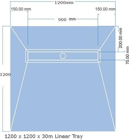 Nassboards Linear Wetroom Shower Tray /& Aqua Kit