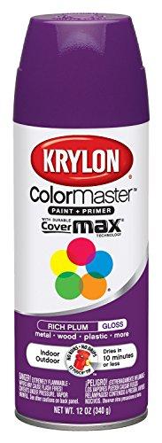 Rich Formula - Krylon K05191402 Rich Plum Interior and Exterior Decorator Paint - 12 oz. Aerosol
