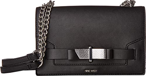Nine West Womens Paisley Convertible Shoulder Bag Black Multi One Size