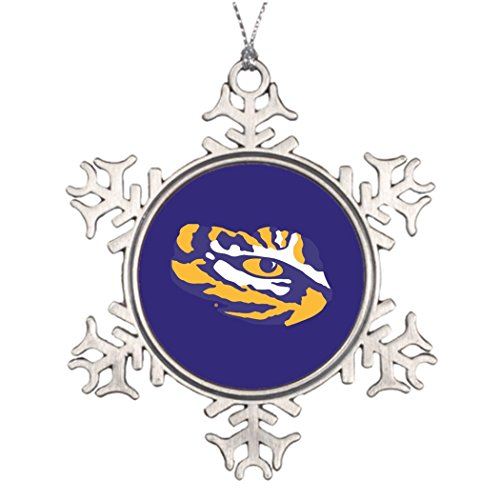 Tree Branch Decoration LSU Eye of the Tiger Personalized Snowflake Ornaments Louisiana