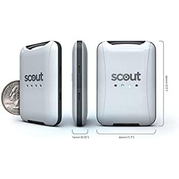 Scout (Black) Universal Vehicle GPS Tracker - Anti-theft W/ Real Time GPS Location And Movement Alerts W/ FREE Hardwire Kit