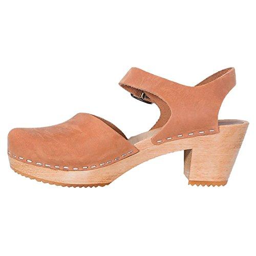 Moheda Womens Dolly Nubuck Sandals Cognac