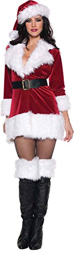 GTH Women's Sexy Secret Santa Claus Christmas Holiday Party Fancy Costume, XL (14-16) (Plus Size Sexy Santa Christmas Costume)