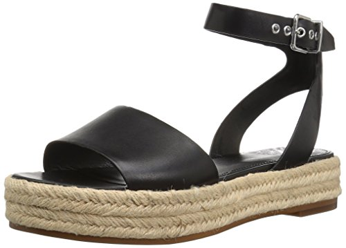 Vince Camuto Women's Kathalia Espadrille Wedge Sandal, Black, 7.5 Medium US