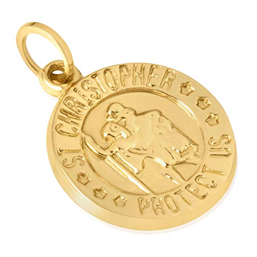 14KT Yellow Gold Round Disc