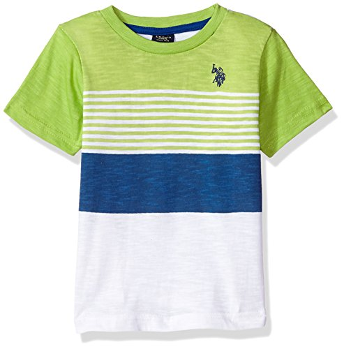 U.S. Polo Assn. Boys Short Sleeve Crew Neck Striped T-Shirt