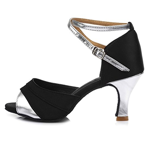 7cm Tacón modelo De Salón Es803 Cm Latino Plateado Cm Cubano 5 Boda 7 Hipposeus Zapatos Mujeres Baile wR0ZS