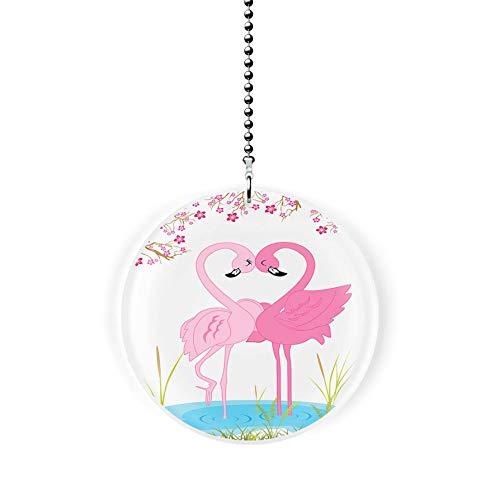 Flamingo Love Fan/Light Pull