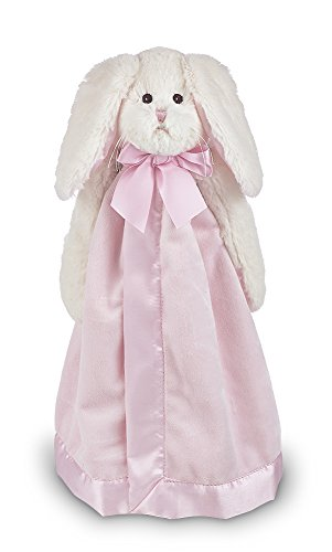 - Bearington Baby Bunny Snuggler, Pink Rabbit Plush Stuffed Animal Security Blanket, Lovey 15