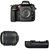 Nikon D810 FX-format Digital SLR Event Photography Lens Kit w/ Battery Grip