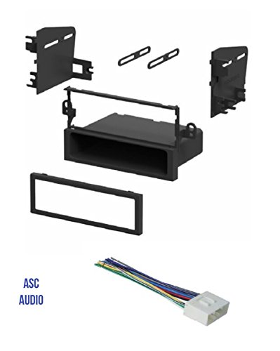 ASC Car Stereo Install Dash Kit and Wire Harness for Installing an Aftermarket Single Din Radio for some Suzuki and Daewoo Vehicles - Compatible Vehicles Listed -