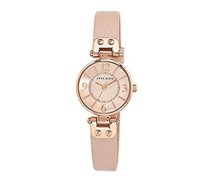 Anne Klein Rose Goldtone Watch with Blush Pink Strap
