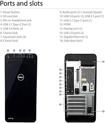 2020 Latest Dell XPS 8930 Premium Gaming Desktop 9th Gen Intel 8-Core i7-9700 32GB DDR4 2TB PCIe SSD 2TB HDD 6GB GeForce GTX 1660 WiFi USB-C HDMI MaxxAudio Win 10 Pro + iCarp Wireless Mouse 41h8YSWwNEL
