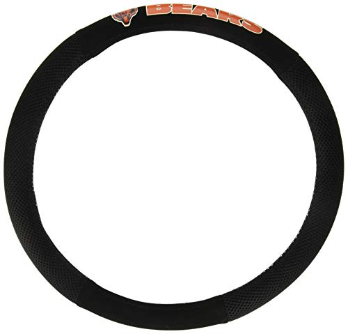 (Fremont Die NFL Chicago Bears Poly-Suede Steering Wheel Cover)