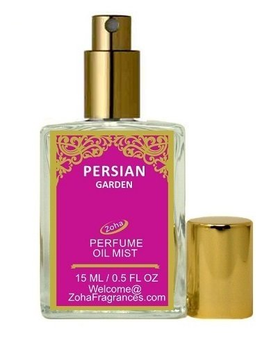 Persian Garden Perfume Oil Mist (no alcohol) Persian Oil Parfum by Zoha Fragrances, 15ml/0.5fl (Sultan Garden)