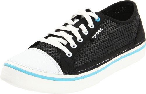 Crocs Mens CrosMesh Hover Lace-Up Shoe Black/White moB3CI
