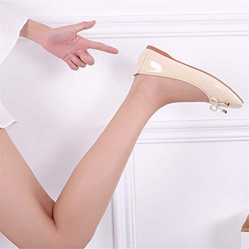 Maternidad Trabajo de cómodos de Plegables de Planos de Zapatos Las Zapatos Antideslizantes Zapatos C Mujeres Ballet FLYRCX portátiles APHwanOYnq
