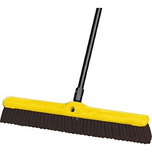 Rubbermaid Commercial FG9B1700MARN Coarse Polypropylene and Polystyrene Heavy-Duty Floor Sweep, Maroon (Block Sweep Heavy Duty Floor)