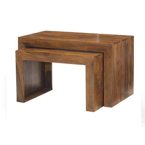 Cuba Sheesham Nest of 2 Tables - Furniture Lifestyle Furniture
