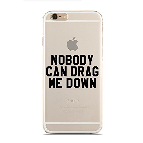 Clear Snap-On case for iPhone 8 - Nobody Can Drag Me Down (C) Andre Gift Shop