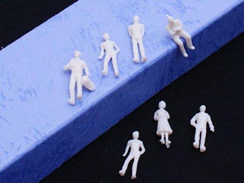 MagiDeal 1:200 Scale Unpainted Architecture Model Train People Figures Scale TT 100//200