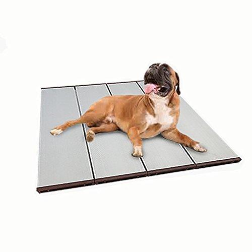 Jiedoasi Foldable Hollow Pet Cooling Mat Dog Cooler Mat Ventilated Aluminum Alloy Material Pet Bed