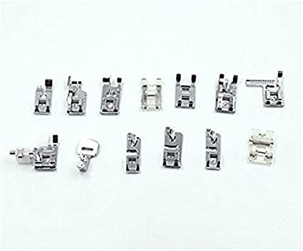 32 piezas multifuncional prensatelas para maquina de coser Presser juego de pies para Brother Cantante Toyota máquinas de coser doméstica (32 pcs): ...