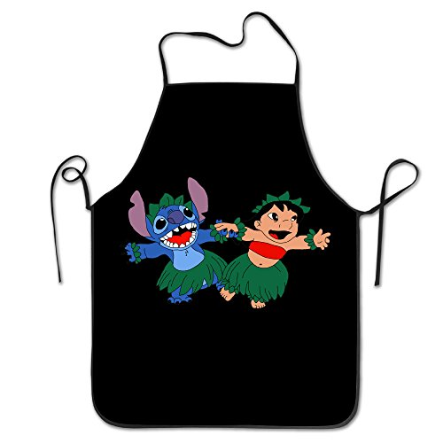 Easy Lilo Costumes Stitch And (Lilo And Stitch Dancing Easy Clean Baking Cooking Bib)