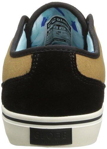 Globe Mahalo - Zapatillas de Skateboarding de cuero nobuck hombre Negro (Schwarz (black/brown 20054))