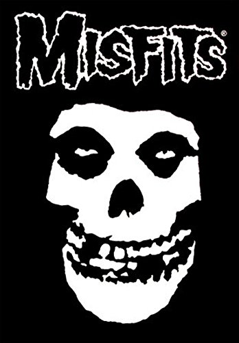 Misfits Fiend Skull Cloth Textile Fabric Poster Flag Fabric Poster Print, 30x40