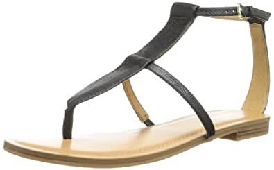 Nine West Women's Fischer Leather Dress Sandal,Black,7.5 M US