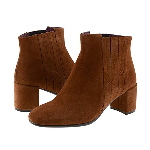 Paula Alonso Bottes en Cuir Orange zOkspgR