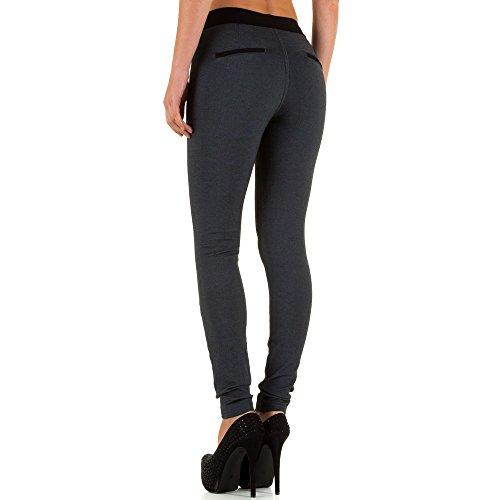 High Waist Treggings Skinny Hose Für Damen , Grau In Gr. Xs/34 bei Ital-Design
